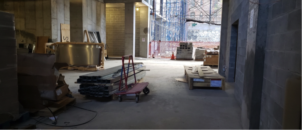 An inside look at the construction of the building that will hold 137 apartments and a parking lot located under the Kingsbridge Road train station.