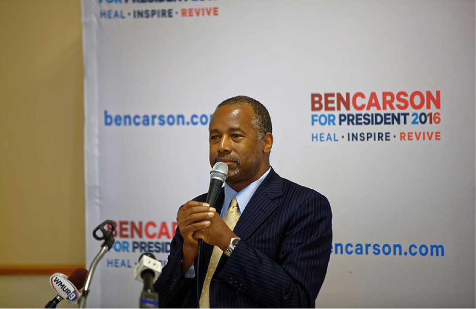 Ben Carson during his 2016 Presidential Election. Photo courtesy of Wikimedia Commons.