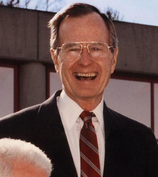 President Bush pictured in 1992. Photo courtesy of Wikimedia Commons.