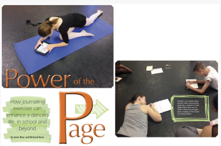 Power Of The Page - December 2016How Journaling Exercises Can Enhance A Dancer's Life, In School And Beyond