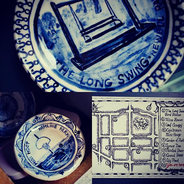 November: Souvenir Plates of Midway Landmarks by Rebecca Meszler. Reception next Sunday 11/19. Noon to 2pm. @workhorsecoffeebar 2399 University Ave Saint Paul MN 55114