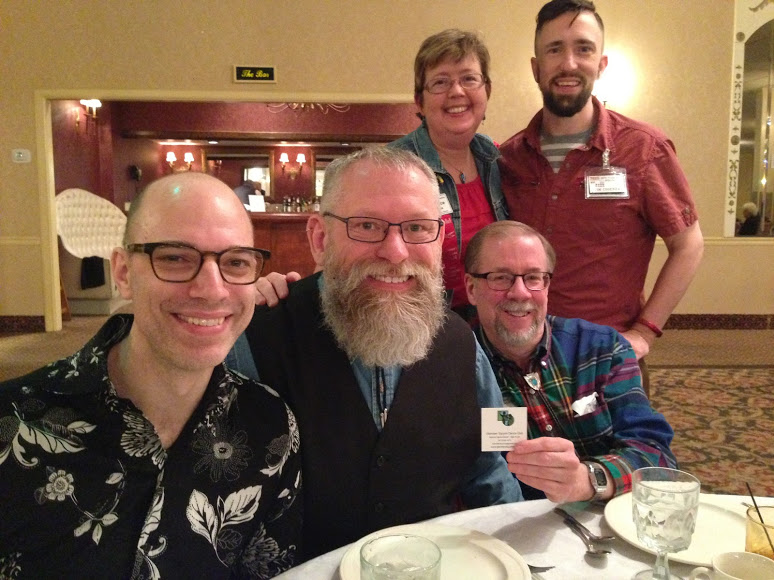 Mark, Rich, Janice, Therron, Ted at the Glenview Squares Anniversary Dance, May 20, 2016, The White Eagle, Niles