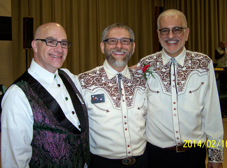 Ed, Rich and Jim (2014 Sweetheart Couple) at the MCASD Sweetheart Dance, Feb 16, 2014! Trinity Lutheran Church, Roselle, IL