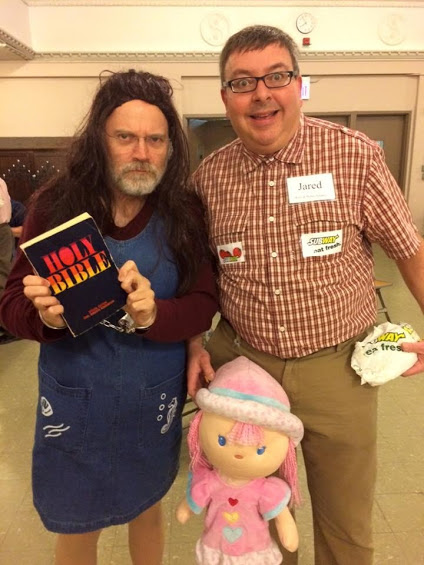 2015 cultural icons Kim Davis and Jared, aka Leslie and Bob, Halloween Dance 2015