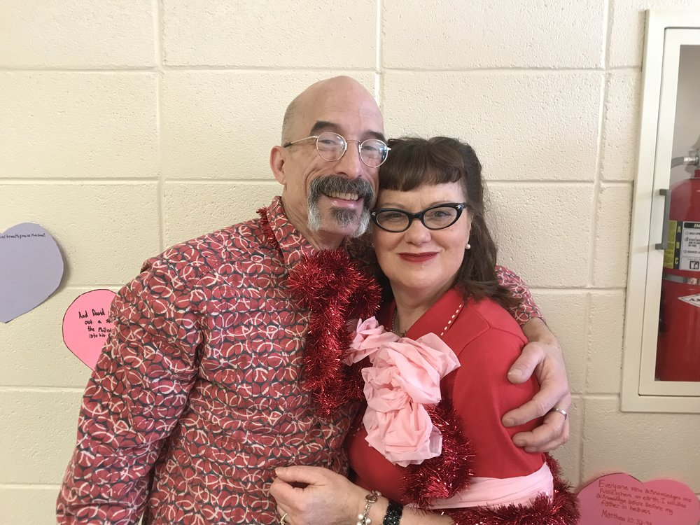 Penny and Diva, our Sweetheart Couple at MCASD's 57th Annual Sweetheart Dance, 2/19/2017, at Trinity Lutheran Church in Roselle