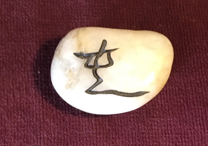 "Theoretically, this kanji stone is a calligraphic symbol for ""chaos."" It may be the symbol ""chun"" (""difficulty at the beginning"") from the I Ching. I carry this stone in my pocket, in part because of what I have been told it means (even if that is incorrect), but also because of how it symbolizes how we personalize the things in our world to suit our needs. Even if this symbol is invented and means nothing in its advertised context, it does its job - reminding me to accept chaos."