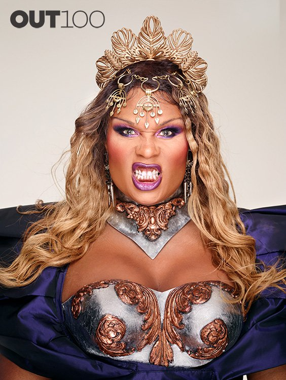 RuPaul's Drag Race Star Peppermint Wearing Xtian de medici.