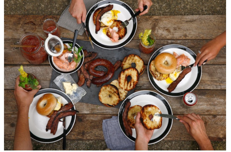 On The Menu: BBQ Brunch - Picture this: a cabin in the mountains, all of your closest friends, and the hangover to end all hangovers. Don't worry, we've got your cure. BBQ Brunch is on the menu and it's guaranteed to get you back up and running. Beer Can Poached Eggs, a grilled Bloody Mary, and Quick and Easy Smoked Salmon, we met up with Patterson Watkins from Philadelphiato give us the lowdown on grilling up the perfect morning eats.