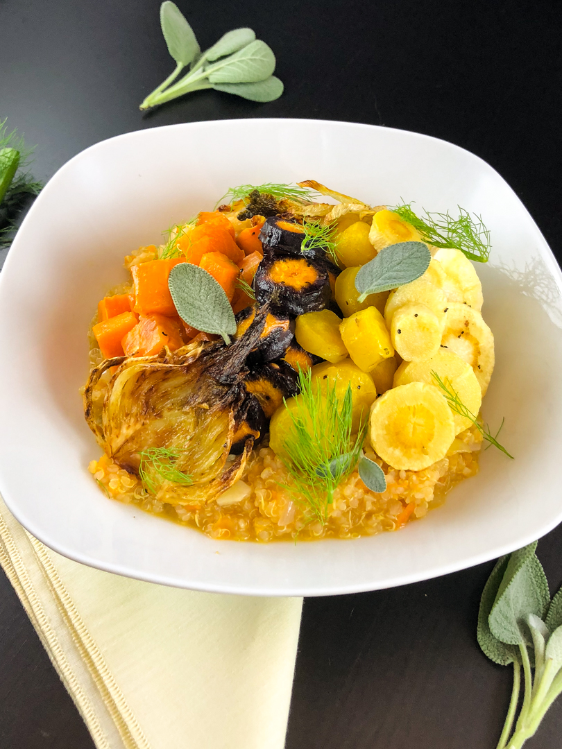 quinoa risotto with root vegetables