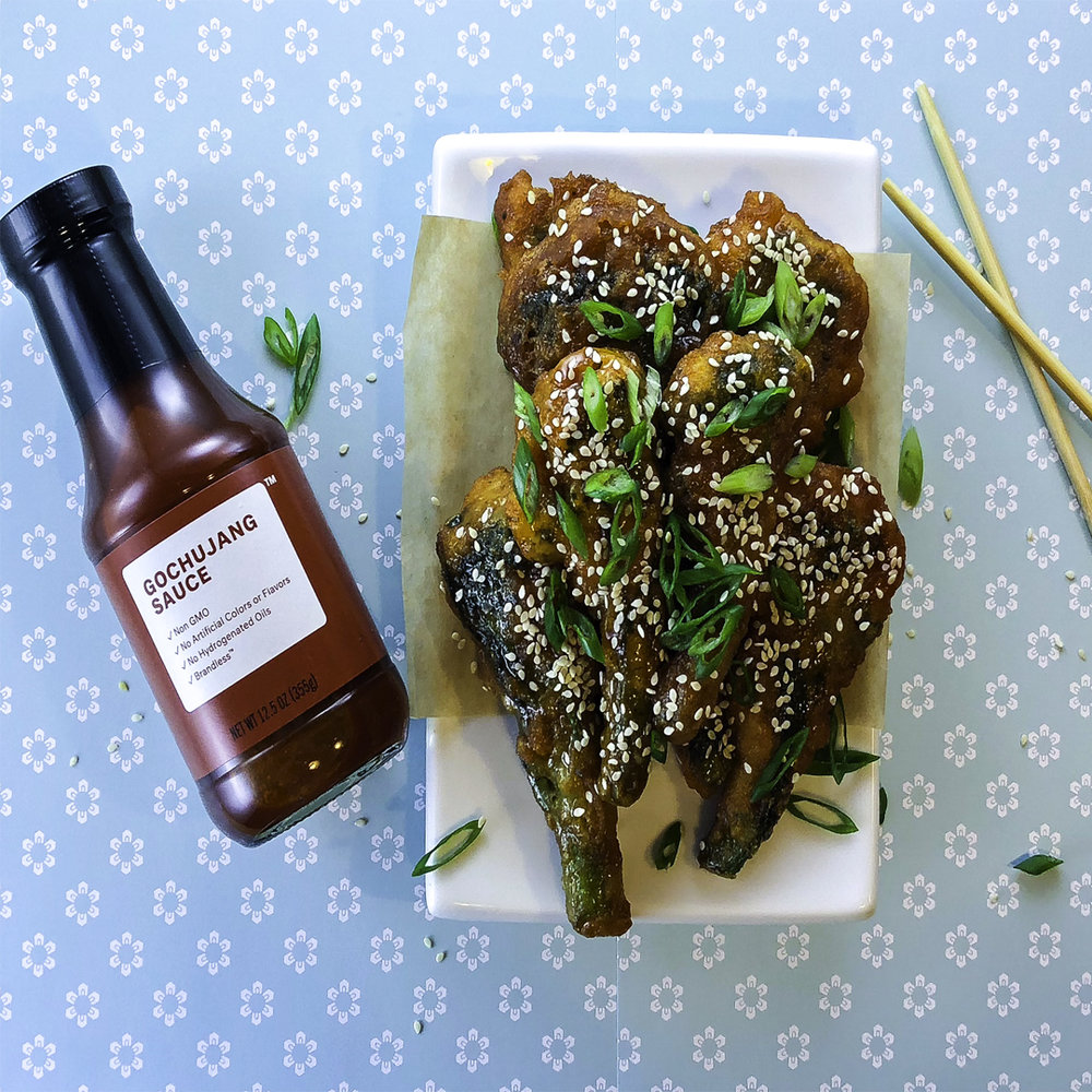 Korean fried broccolini