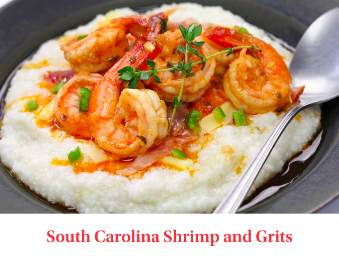 South Carolina Shrimp and Grits - Shrimp and grits is a southern staple. Found everywhere from casual diners to fancy white linen tablecloth restaurants, although it wasn't always this popular. Shrimp and grits became the en vogue dish that it is today by the recent popularity of low country cuisine and the world famous chefs of that region.Low country is reserved as the geographical region along the southern coast of South Carolina, a section of the country also known as the 'Grit Belt' (teehee). South Carolinians have been making shrimp and grits for centuries and recipes have been generationally passed along from family to family.