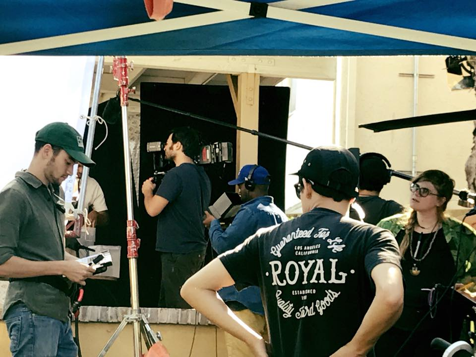 On set picture by Patrick Martucci
