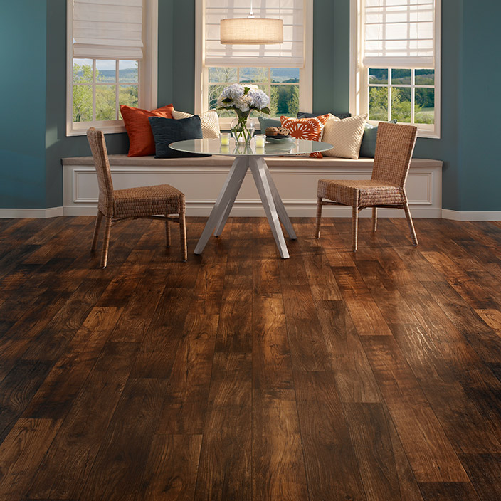 Mannington LVT - Mannington LVT provides a luxurious feel without the price of traditional hardwood or stone flooring. It is easier to maintain and offers much of the beauty of their real counterparts.