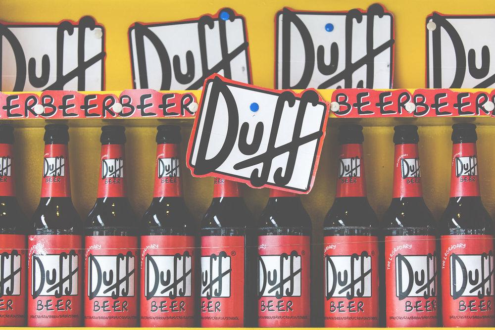 Duff Beer in Burano