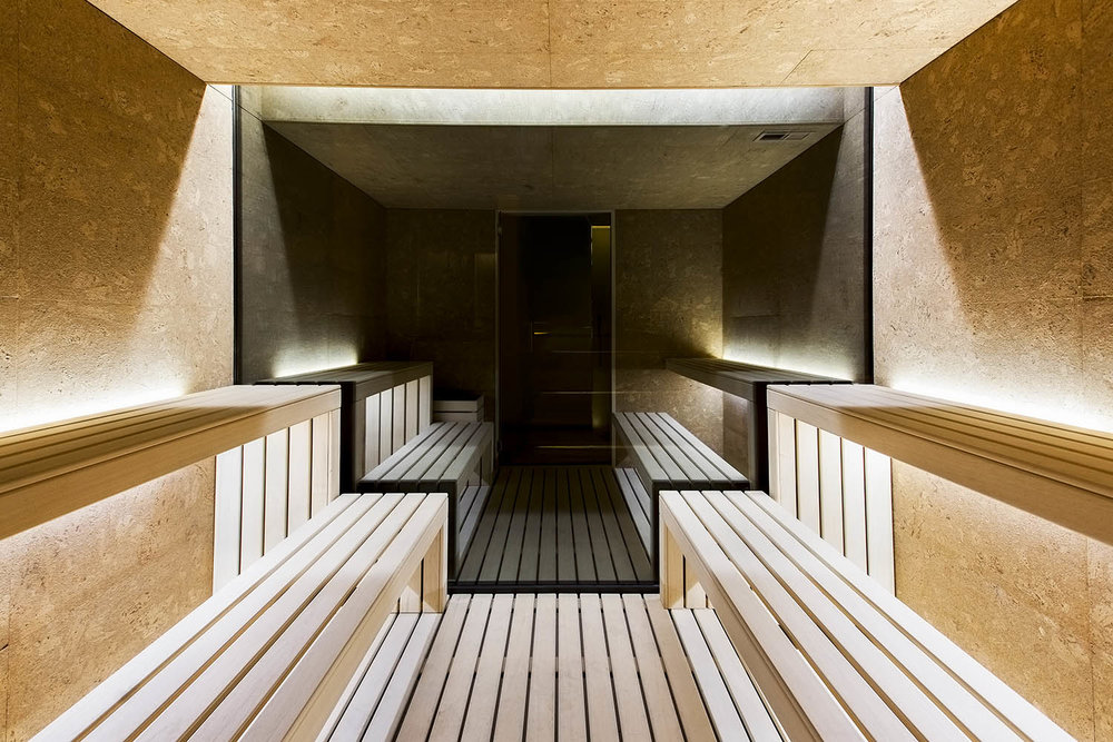 Sauna at Vitoria Stone Hotel