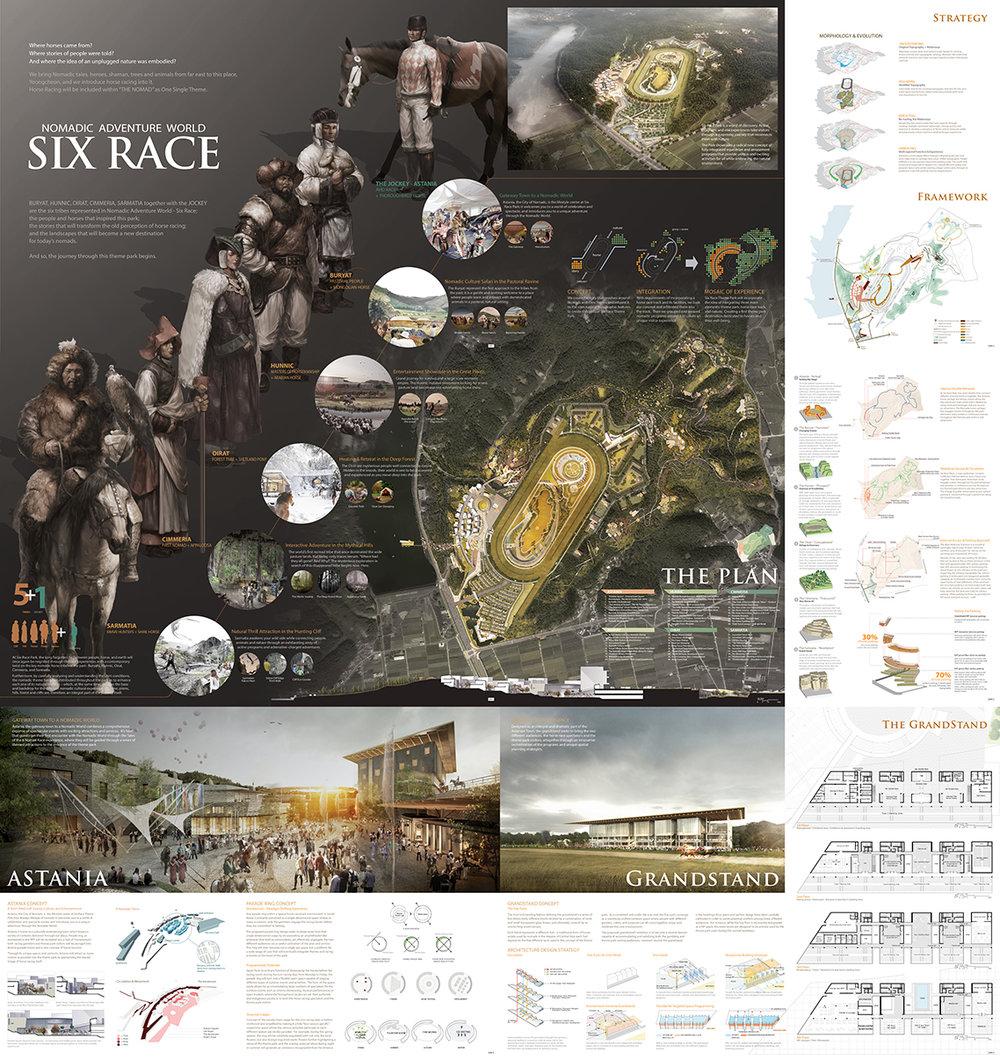 Honourable Mention 2: Nomadic Adventure World | SIX RACE   AECOM Asia Company Limited (Hong Kong); Yooshin Engineering Corporation (Republic of Korea); JUNGLIM ARCHITECTURE (Republic of Korea); Hanul Choongjung (Republic of Korea)
