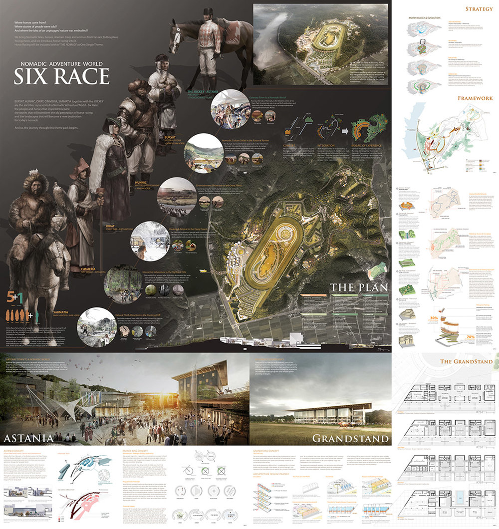 Honourable Mention 2: Nomadic Adventure World   SIX RACE   AECOM Asia Company Limited (Hong Kong); Yooshin Engineering Corporation (Republic of Korea); JUNGLIM ARCHITECTURE (Republic of Korea); Hanul Choongjung (Republic of Korea)