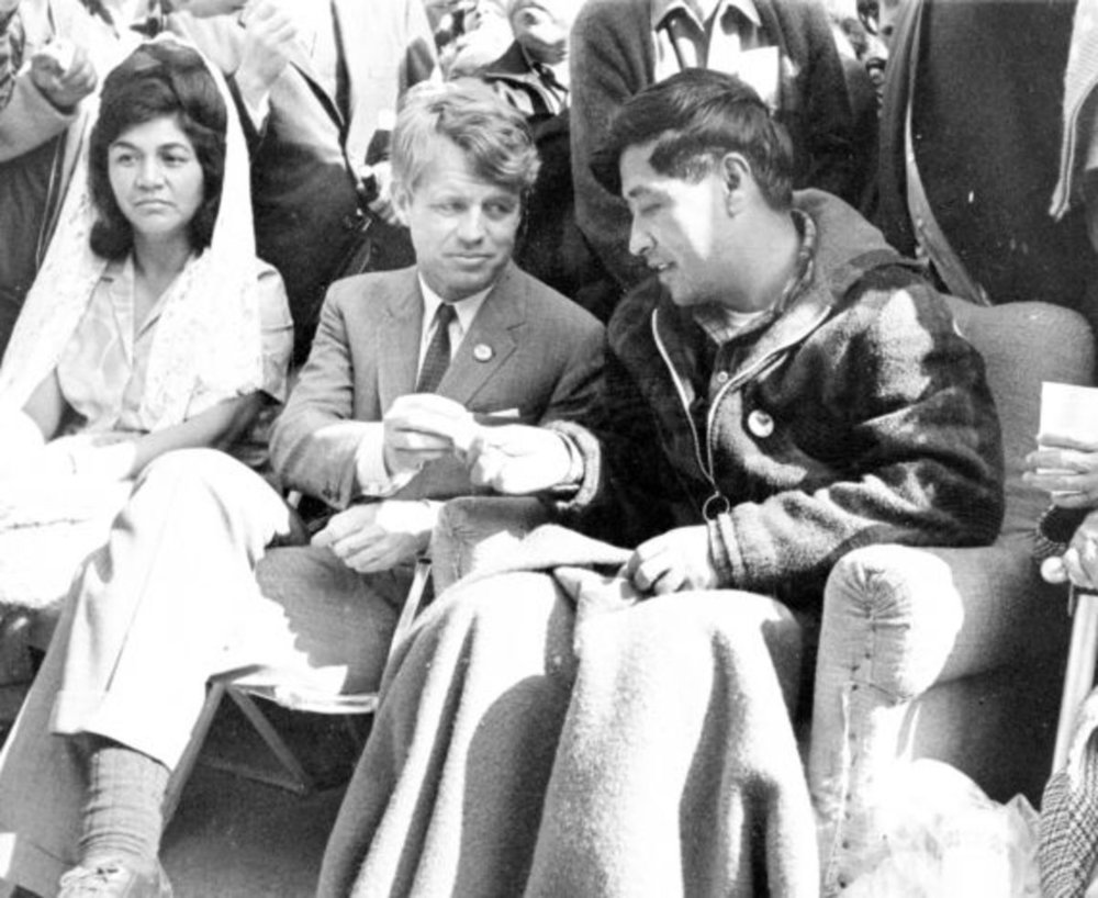 Robert Kennedy with  Cesar Chavez .