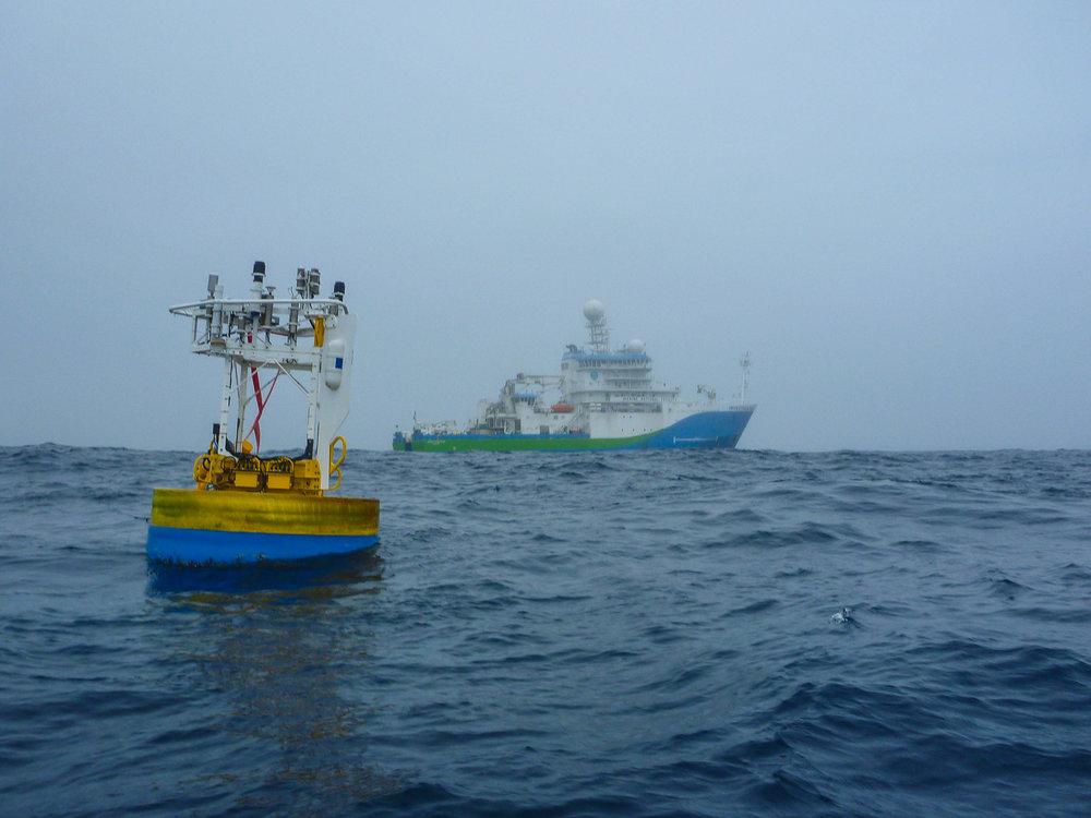 The RV Investigator at sea [Image courtesy of CSIRO Marine National Facility]