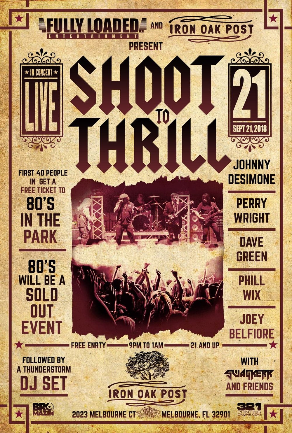 The 80's In the Park Pre-Party Featuring AC/DC Tribute band Shoot To Thrill