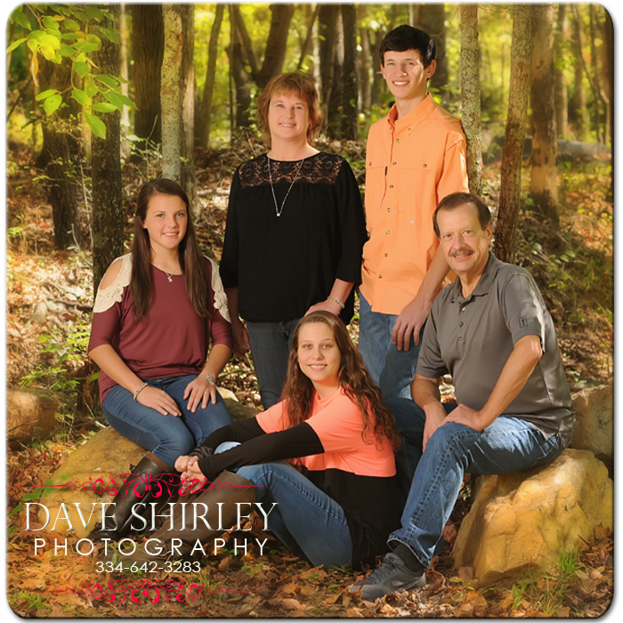 Fall Family Portraits - Fall Family Portraits made in Oct - Dec.  Sitting fee is $75 for studio time.  The payment hold your appt time and date. Its non refundable and non transferred. If you are a no show payment is forfeited. If you you need to change your appt date and time studio will need a 1 week noticed. Portrait print collections start at $99 plus tax. At your portrait session you are welcome to ask for a hard copy print out of our collections. We do offer digital files but most of our clients want professional prints. After your portrait session another appt will be made for you to come back to our studio to view your images and place your order with us. Turn around time to view and order is 1-2 weeks and orders take 2-3 weeks for professional prints.  Thank you Dave Shirley PhotographyCall Dave at 334-642-3283 to book and let him know what kind of photography needs you would like.