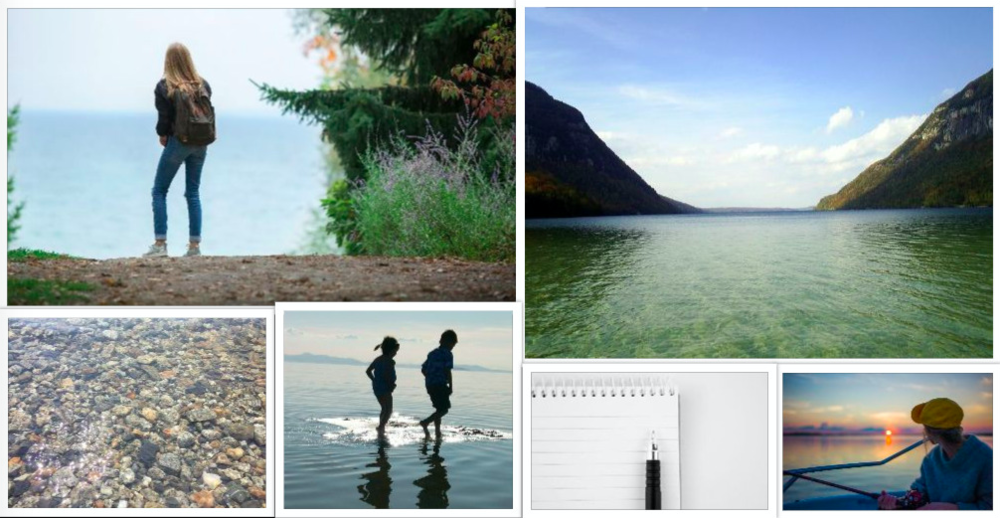 "A collection of images representing the ""novel aesthetic"" of my middle grade debut, THE LIGHT IN THE LAKE. The setting is strongly based on the part of northern Vermont where I lived for six years with my husband and children."