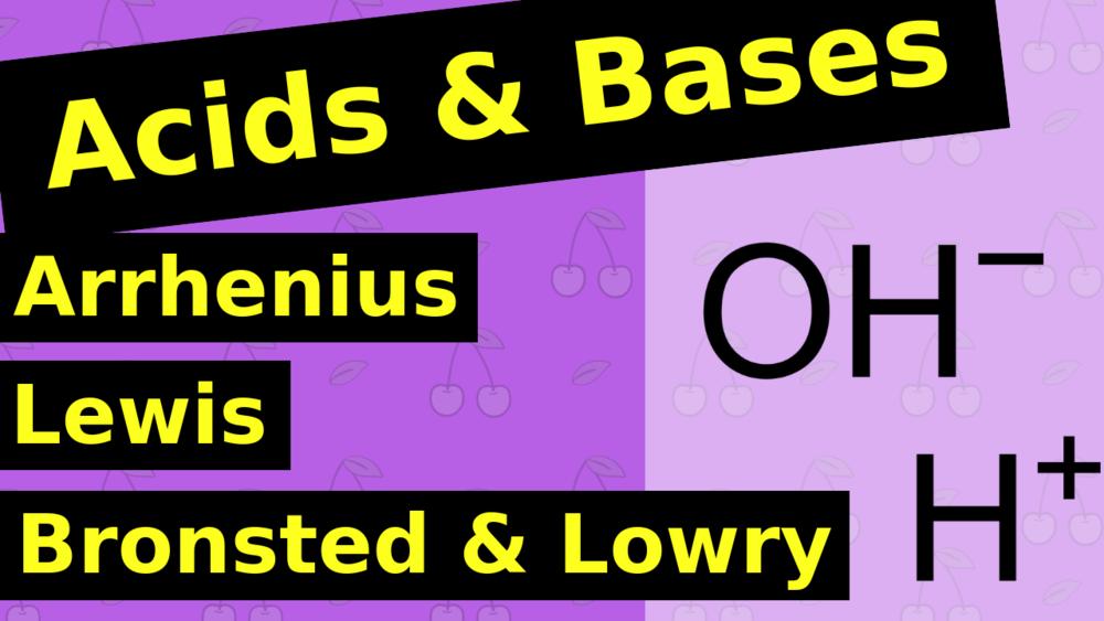 Arrhenius vs Lewis vs Bronstead Lowry Acid and Base
