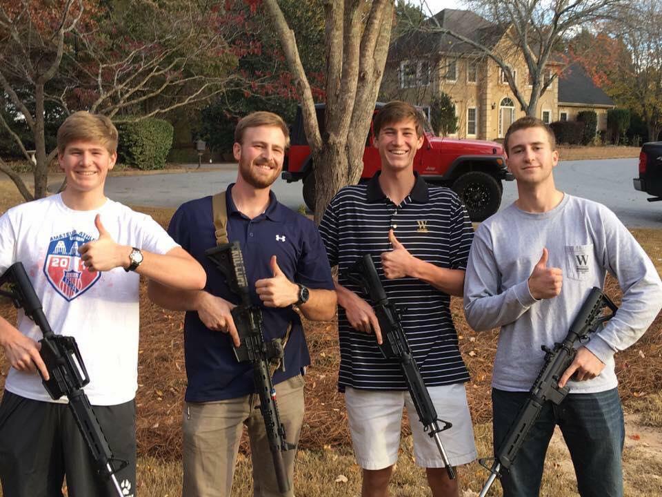 My three brothers, I built them each an AR15 for Christmas.