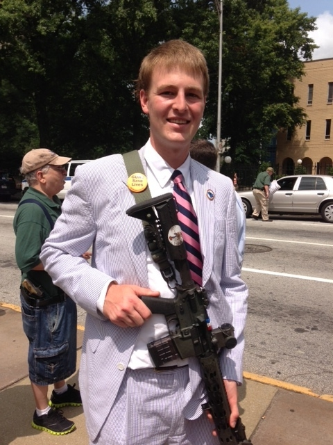 Attending a 2nd Amendment Rally at the GA State Capital when I was 19.