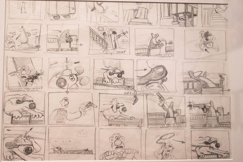 Storyboards show all of the scenes planned out