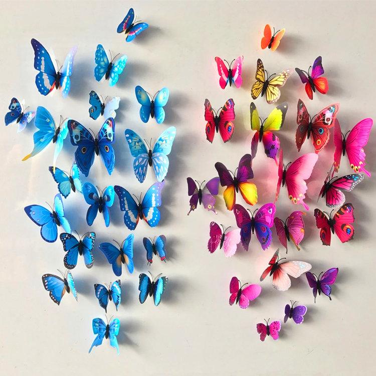 Vlinder Decoratie Babykamer.3d Muursticker 12 Vlinders Liora Shop