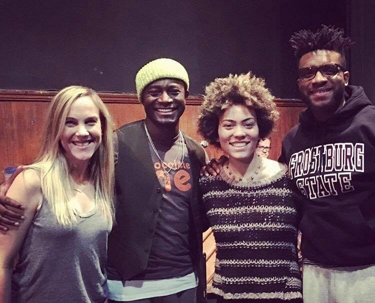 CREATIVE TEAM: Jenny Parsinen, Taye Diggs, Madison McFerrin and Keenan Scott II.