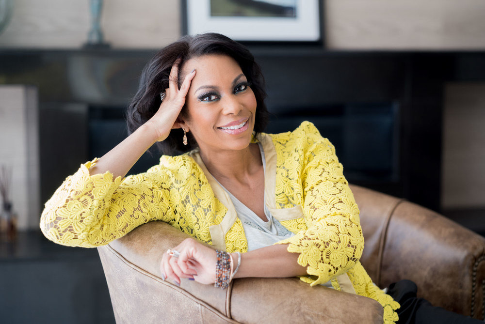 Television host Harris Faulkner at home in New Jersey