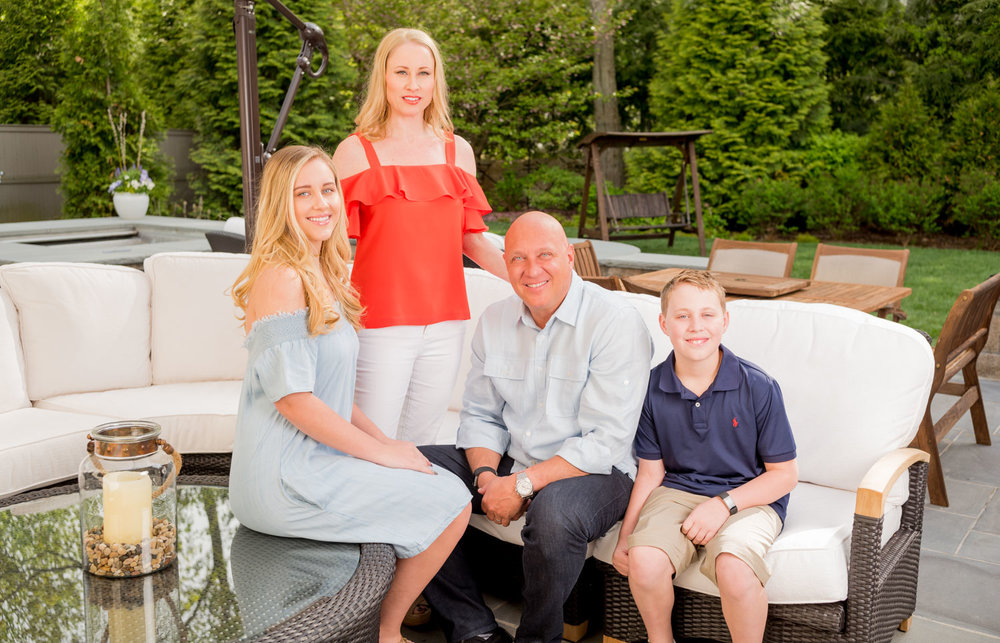 Steve Wilkos and family photographed at home