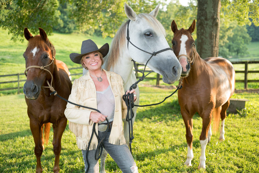 Country Legend Singer Tanya Tucker photographed at home in Nashville