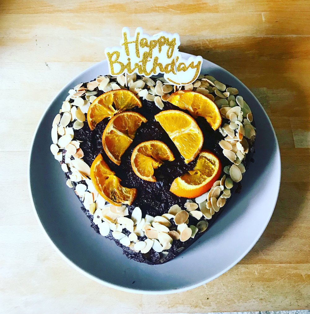 choc orange almond cake