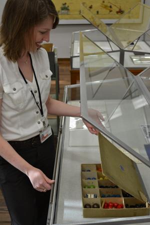 Einstein's molecular model kit. Photo by Jennifer Tisdale (from the  Ransom Center Newsletter )