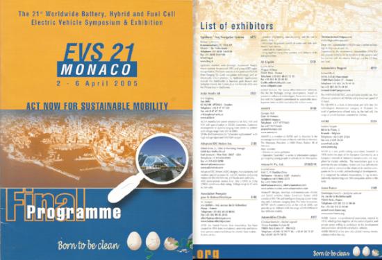 iEV ( ARYANA EV AUSTRALIA )at EVS 21Conferance and symposium MONACO 2-6 April 2005.