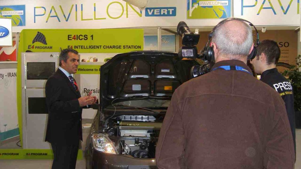 Press Conference - with iEV1 and the first Mobil Robotic Charge Station ,At 81st Geneva International Motor Show in 2011