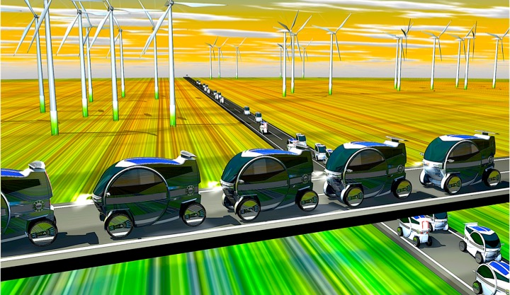 Future Transportation System - The iEV Charge While in Motion system is Economy & Costly with minimum requirements to fit on any available Highway