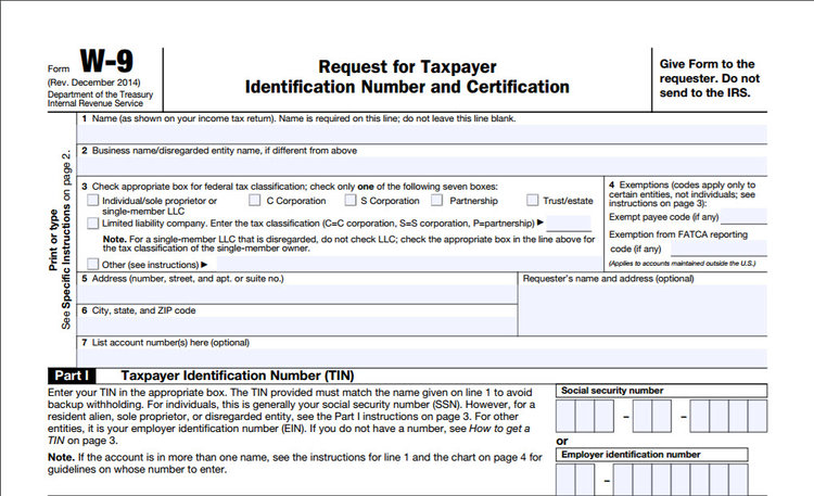 Request Form W 9 Before Payment Mural Tax Services