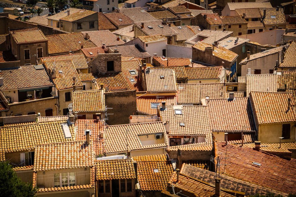 Rooftops in Gruissan, France