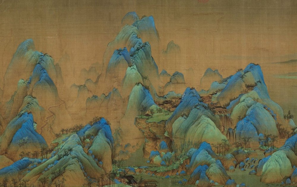 A Thousand Li of Rivers and Mountains (千里江山 qiānlǐ jiāngshān), painted in 1113 by teenaged prodigy Wang Ximeng (1096-1119) has only been displayed three times since the Communist Party took power in 1949.