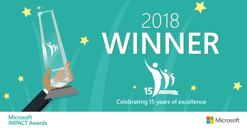 2018 Microsoft IMPACT Award winner banner.png