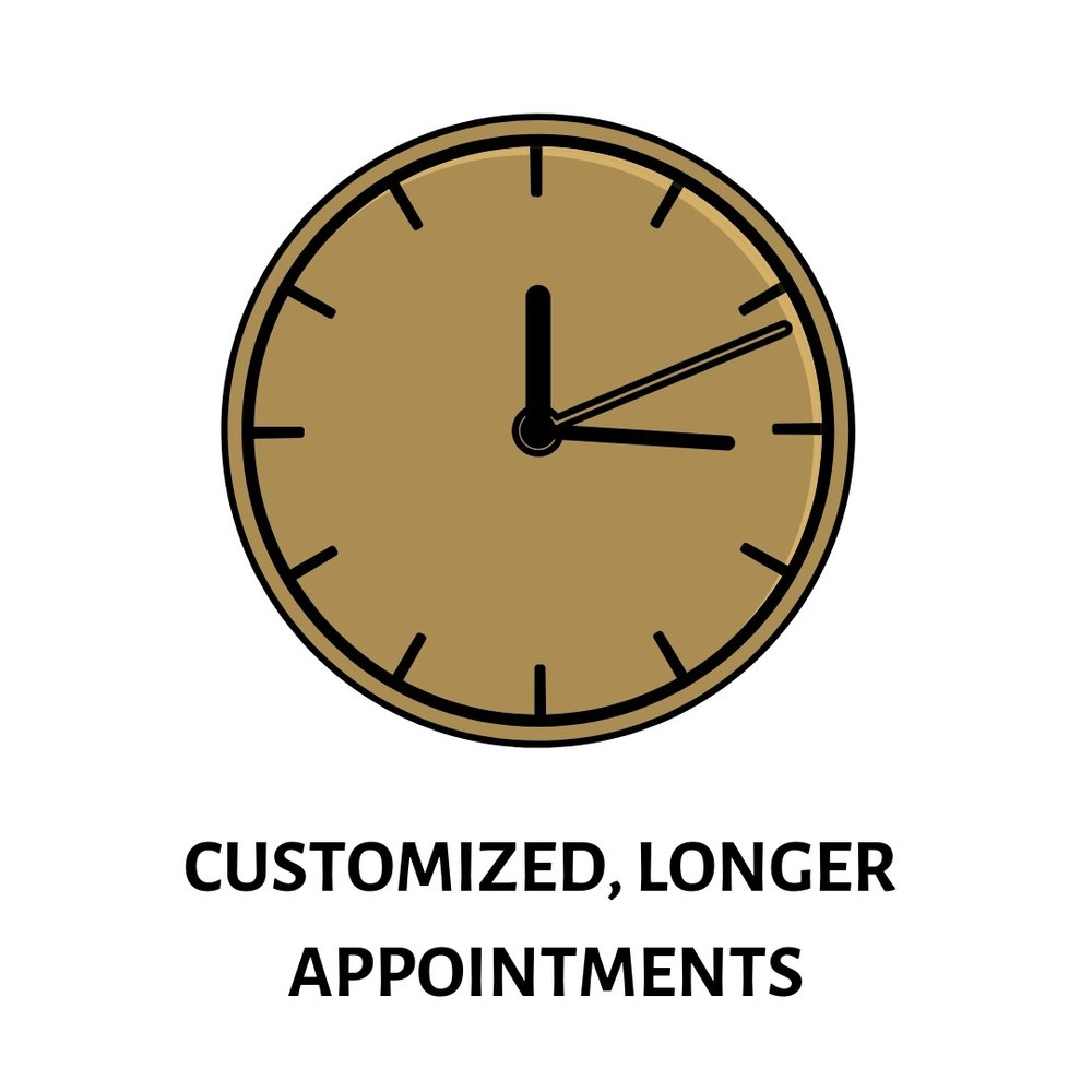 "Appointments  with Dr. Price are scheduled for  1 hour  and if needed ""off-hour"" appointments,  including evenings, weekends, and holidays  are available."