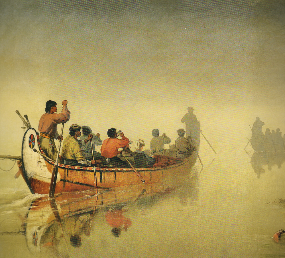 Canoes in a Fog, Lake Superior  by Frances Anne Hopkins  1869. Courtesy the Glenbow Museum