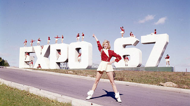 Canadians flock to Montreal's Expo 67 to celebrate the country's 100th birthday.