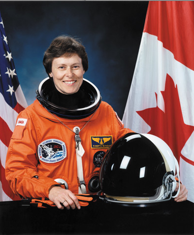 Roberta Bondar, Canada's first female astronaut, rockets into space aboard the NASA Space Shuttle  Discovery .