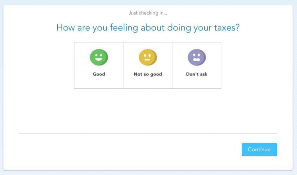 Screenshot of Turbo Tax's startup process.