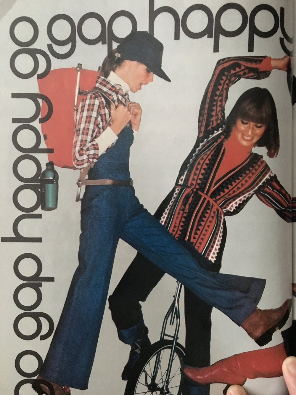 Go Gap Happy.   Mademoiselle. August. 1976.